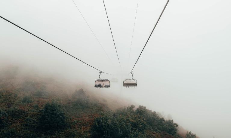 В Сочи на горнолыжном курорте «Красная Поляна» открылся новый аттракцион SuperTrolley
